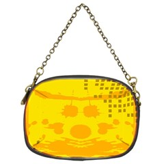 Texture Yellow Abstract Background Chain Purses (two Sides)