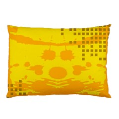 Texture Yellow Abstract Background Pillow Case