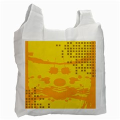 Texture Yellow Abstract Background Recycle Bag (two Side)