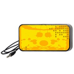 Texture Yellow Abstract Background Portable Speaker