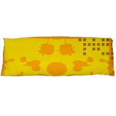 Texture Yellow Abstract Background Body Pillow Case (dakimakura)
