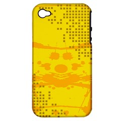 Texture Yellow Abstract Background Apple Iphone 4/4s Hardshell Case (pc+silicone)