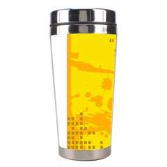 Texture Yellow Abstract Background Stainless Steel Travel Tumblers