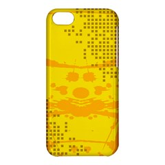 Texture Yellow Abstract Background Apple Iphone 5c Hardshell Case by BangZart