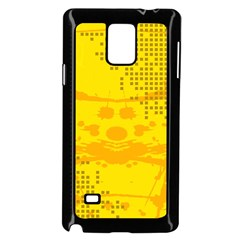 Texture Yellow Abstract Background Samsung Galaxy Note 4 Case (black)