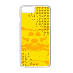 Texture Yellow Abstract Background Apple Iphone 7 Plus Seamless Case (white)