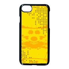 Texture Yellow Abstract Background Apple Iphone 8 Seamless Case (black)