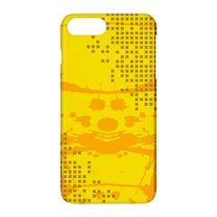 Texture Yellow Abstract Background Apple Iphone 8 Plus Hardshell Case