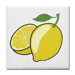 Lemon Fruit Green Yellow Citrus Tile Coasters by BangZart