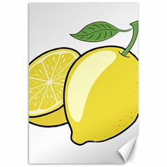 Lemon Fruit Green Yellow Citrus Canvas 12  X 18