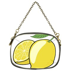Lemon Fruit Green Yellow Citrus Chain Purses (one Side)