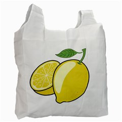 Lemon Fruit Green Yellow Citrus Recycle Bag (two Side)