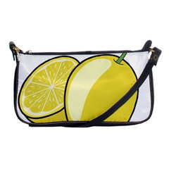 Lemon Fruit Green Yellow Citrus Shoulder Clutch Bags