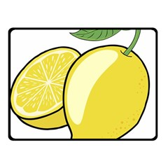 Lemon Fruit Green Yellow Citrus Fleece Blanket (small)