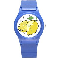 Lemon Fruit Green Yellow Citrus Round Plastic Sport Watch (s) by BangZart
