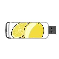 Lemon Fruit Green Yellow Citrus Portable Usb Flash (one Side) by BangZart