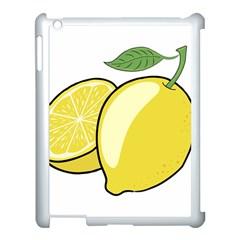 Lemon Fruit Green Yellow Citrus Apple Ipad 3/4 Case (white)