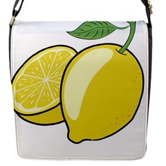 Lemon Fruit Green Yellow Citrus Flap Messenger Bag (s)