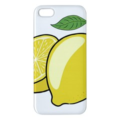 Lemon Fruit Green Yellow Citrus Iphone 5s/ Se Premium Hardshell Case