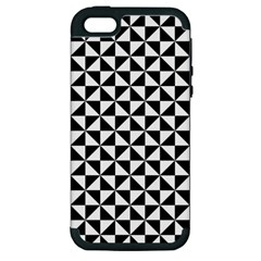 Triangle Pattern Simple Triangular Apple Iphone 5 Hardshell Case (pc+silicone)