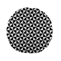 Triangle Pattern Simple Triangular Standard 15  Premium Round Cushions