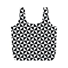 Triangle Pattern Simple Triangular Full Print Recycle Bags (m)
