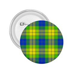 Spring Plaid Yellow Blue And Green 2 25  Buttons