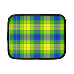 Spring Plaid Yellow Blue And Green Netbook Case (small)