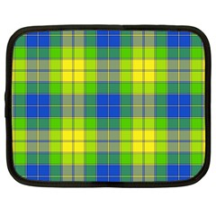Spring Plaid Yellow Blue And Green Netbook Case (large) by BangZart