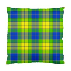 Spring Plaid Yellow Blue And Green Standard Cushion Case (one Side)