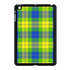 Spring Plaid Yellow Blue And Green Apple Ipad Mini Case (black)