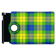Spring Plaid Yellow Blue And Green Apple Ipad 2 Flip 360 Case