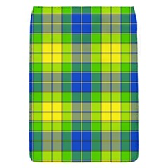 Spring Plaid Yellow Blue And Green Flap Covers (s)