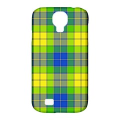 Spring Plaid Yellow Blue And Green Samsung Galaxy S4 Classic Hardshell Case (pc+silicone)