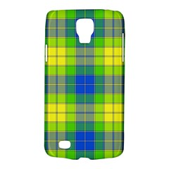 Spring Plaid Yellow Blue And Green Galaxy S4 Active by BangZart