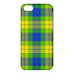 Spring Plaid Yellow Blue And Green Apple Iphone 5c Hardshell Case by BangZart