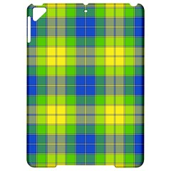 Spring Plaid Yellow Blue And Green Apple Ipad Pro 9 7   Hardshell Case by BangZart