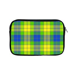 Spring Plaid Yellow Blue And Green Apple Macbook Pro 13  Zipper Case