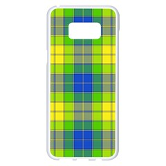 Spring Plaid Yellow Blue And Green Samsung Galaxy S8 Plus White Seamless Case