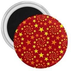 Star Stars Pattern Design 3  Magnets by BangZart