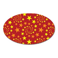 Star Stars Pattern Design Oval Magnet by BangZart