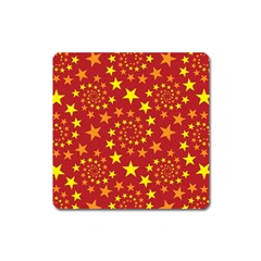 Star Stars Pattern Design Square Magnet by BangZart