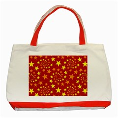 Star Stars Pattern Design Classic Tote Bag (red) by BangZart