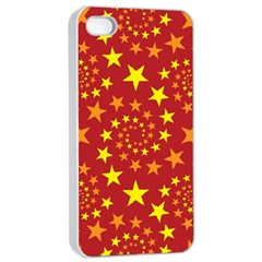 Star Stars Pattern Design Apple Iphone 4/4s Seamless Case (white) by BangZart