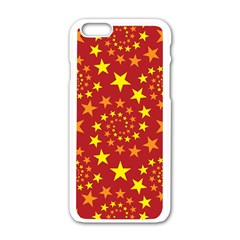 Star Stars Pattern Design Apple Iphone 6/6s White Enamel Case by BangZart