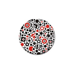 Square Objects Future Modern Golf Ball Marker