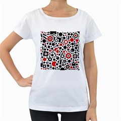 Square Objects Future Modern Women s Loose Fit T Shirt (white) by BangZart