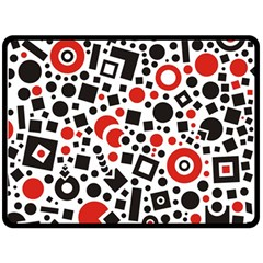 Square Objects Future Modern Fleece Blanket (large)  by BangZart