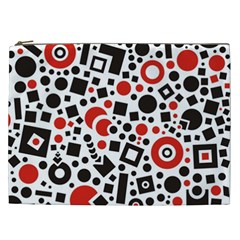 Square Objects Future Modern Cosmetic Bag (xxl)