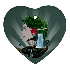 Digital Nature Beauty Ornament (heart)